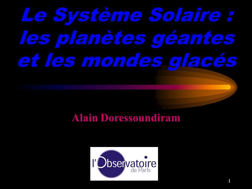 Le Système Solaire : les planètes géantes et les mondes glacés