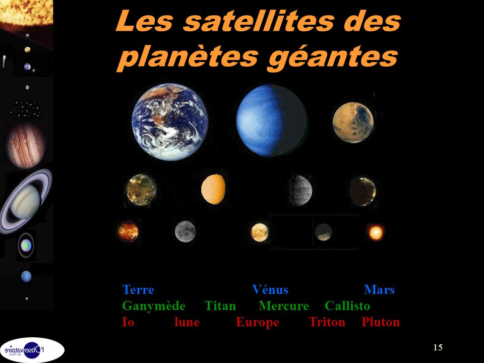 Les satellites des planètes géantes