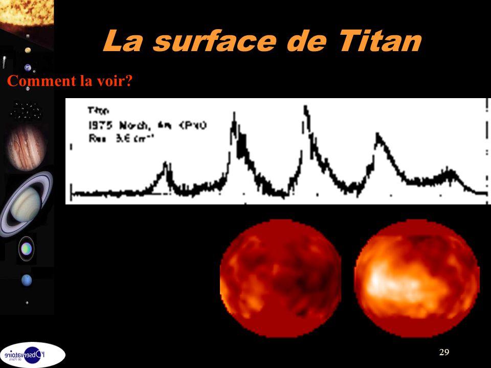 La surface de Titan Comment la voir Comment la voir