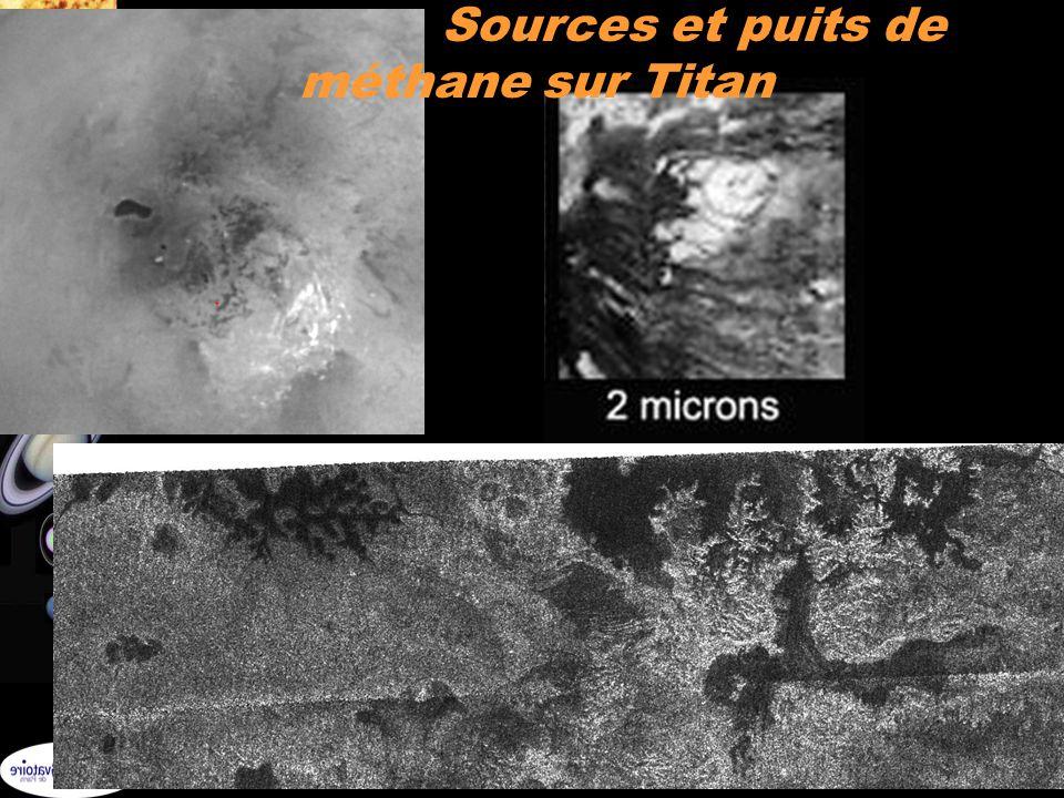Sources et puits de méthane sur Titan