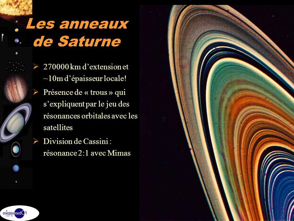Les anneaux de Saturne 270000 km d'extension et ~10m d'épaisseur locale!