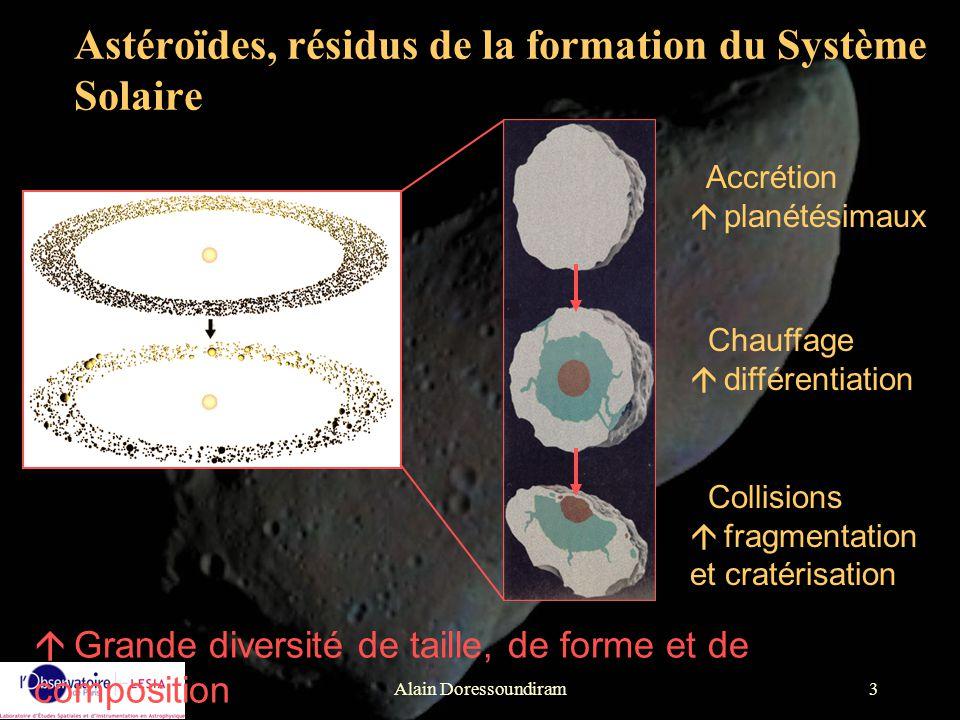 Astéroïdes, résidus de la formation du Système Solaire