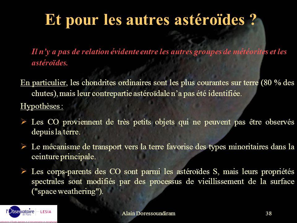 Et pour les autres astéroïdes