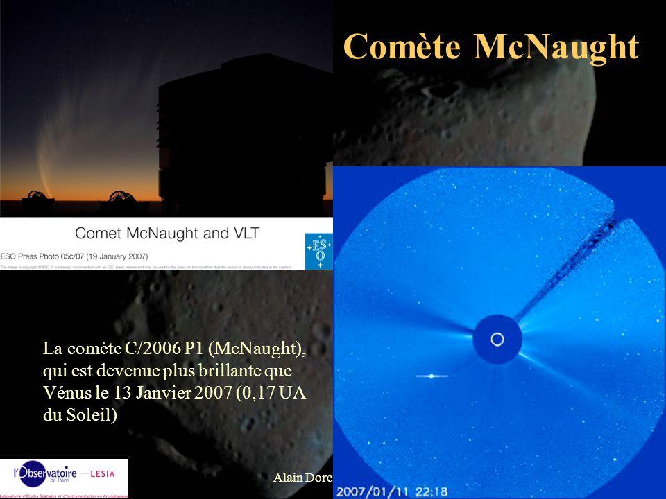 Comète McNaught La comète C/2006 P1 (McNaught), qui est devenue plus brillante que Vénus le 13 Janvier 2007 (0,17 UA du Soleil)