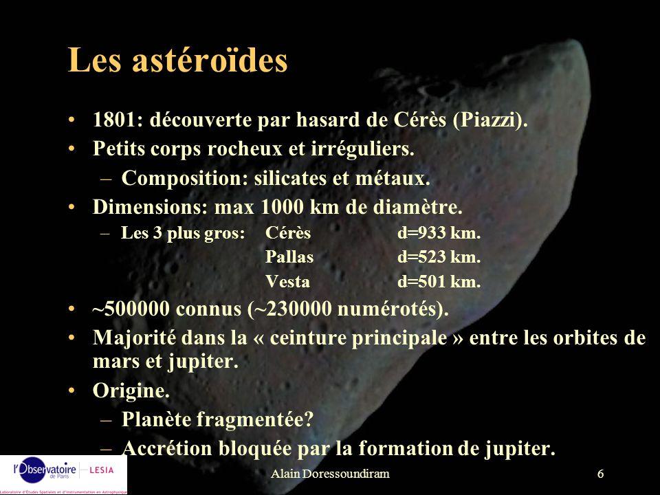 Les astéroïdes 1801: découverte par hasard de Cérès (Piazzi).