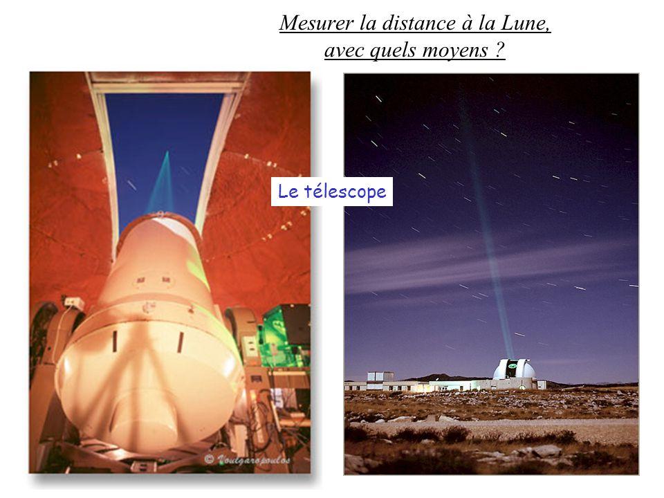 Mesurer la distance à la Lune, avec quels moyens