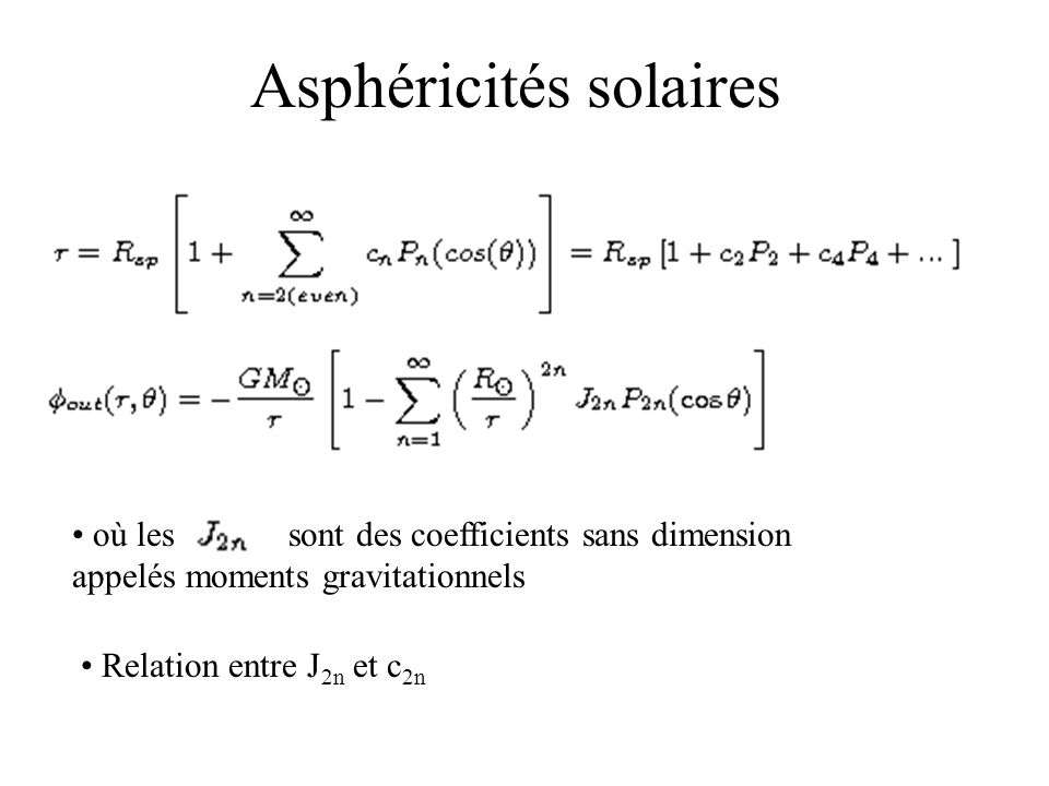 Asphéricités solaires