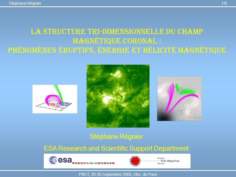 La structure tri-dimensionnelle du champ magnétique coronal :