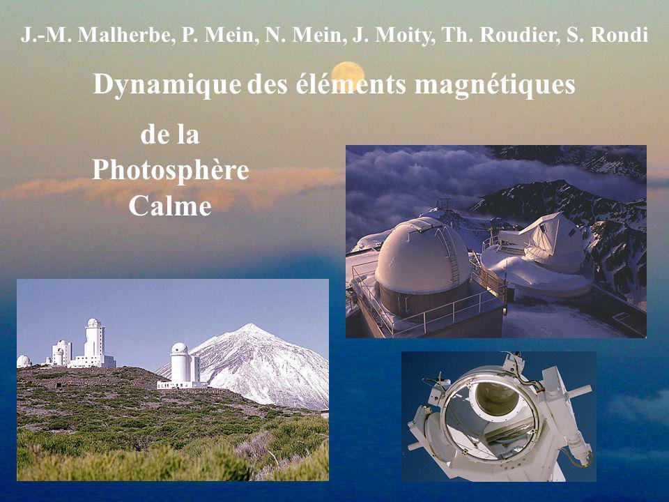 Dynamique des éléments magnétiques de la Photosphère Calme