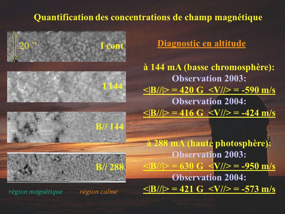 Quantification des concentrations de champ magnétique