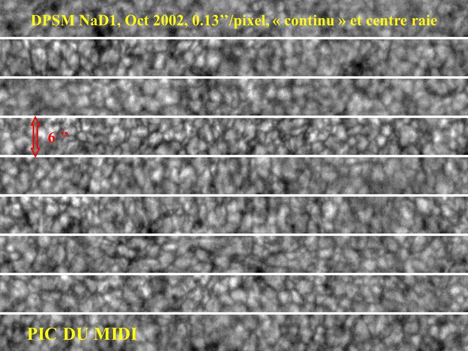 DPSM NaD1, Oct 2002, 0.13''/pixel, « continu » et centre raie