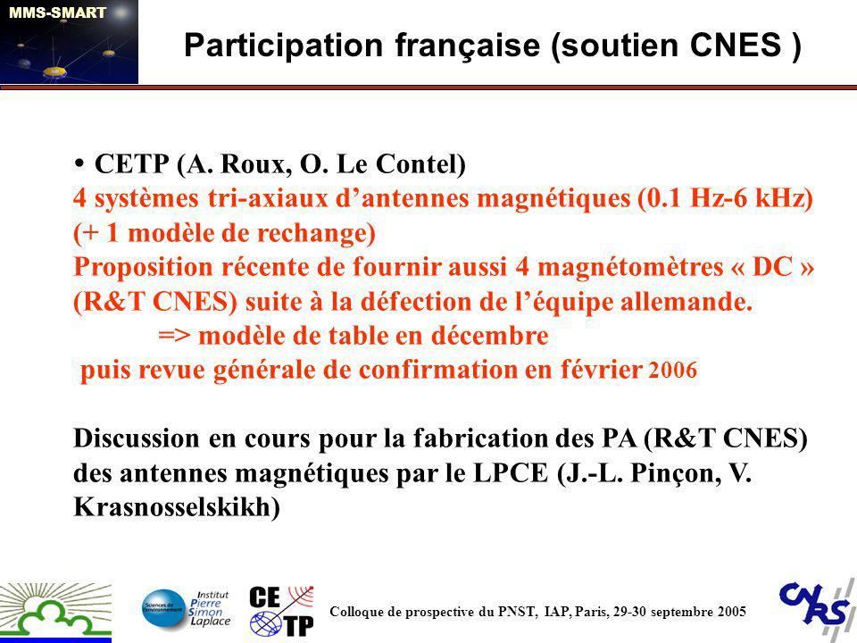 Participation française (soutien CNES )