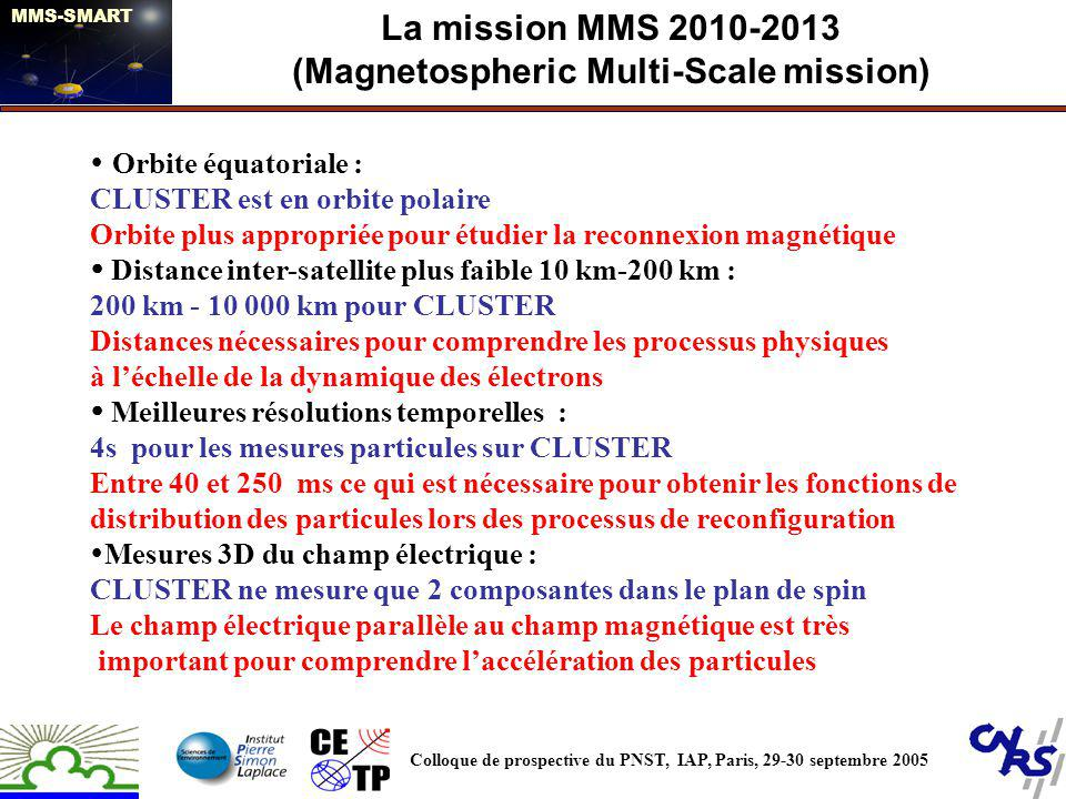 La mission MMS 2010-2013 (Magnetospheric Multi-Scale mission)