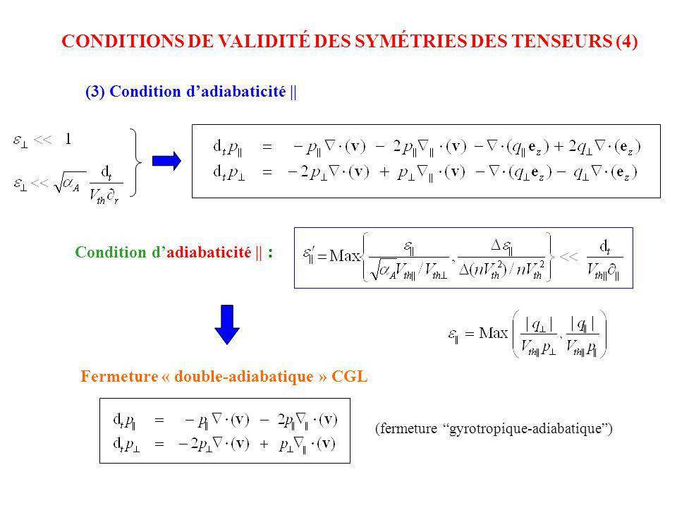 CONDITIONS DE VALIDITÉ DES SYMÉTRIES DES TENSEURS (4)