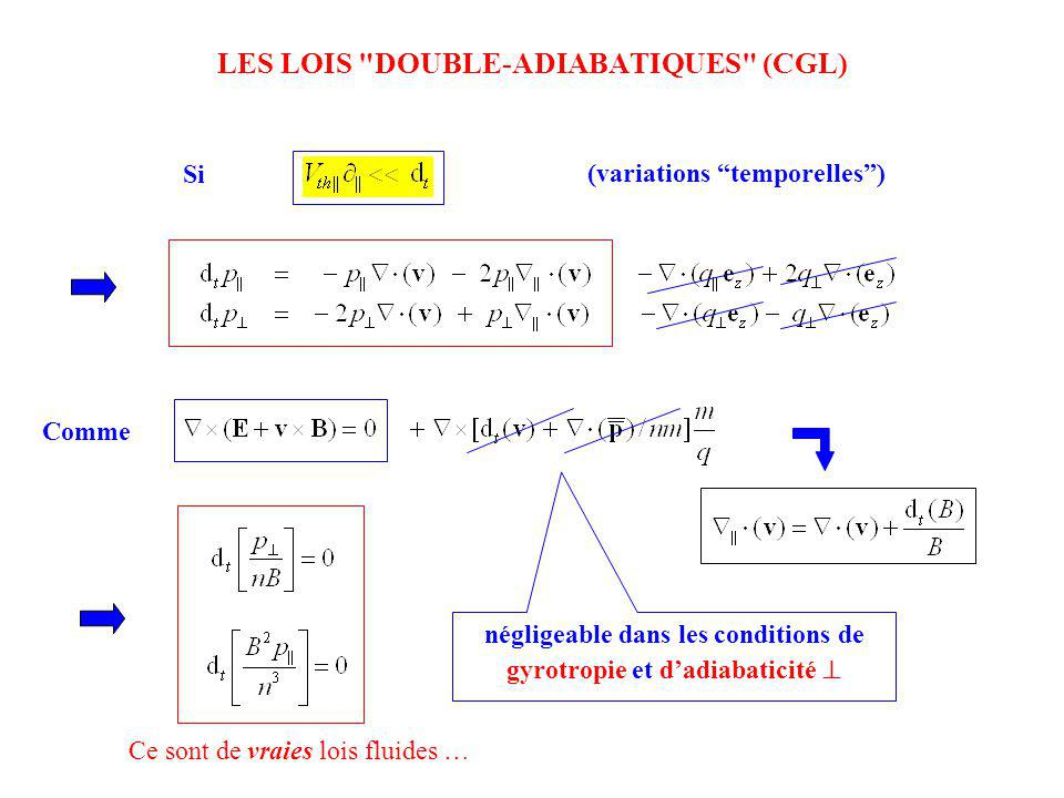 LES LOIS DOUBLE-ADIABATIQUES (CGL)