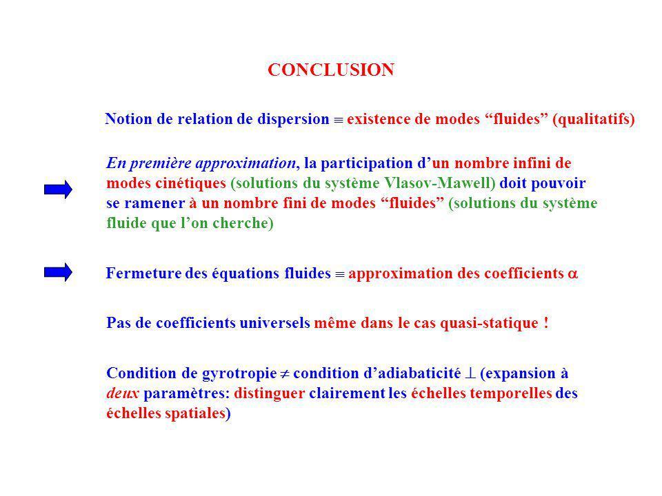 Fermeture des équations fluides  approximation des coefficients 