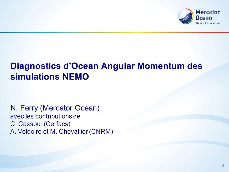 Diagnostics d'Ocean Angular Momentum des simulations NEMO N