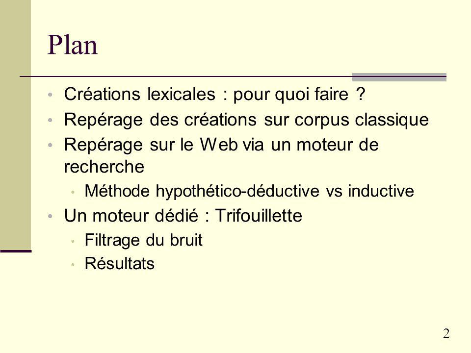 Plan Créations lexicales : pour quoi faire