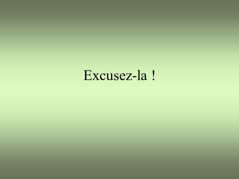 Excusez-la !