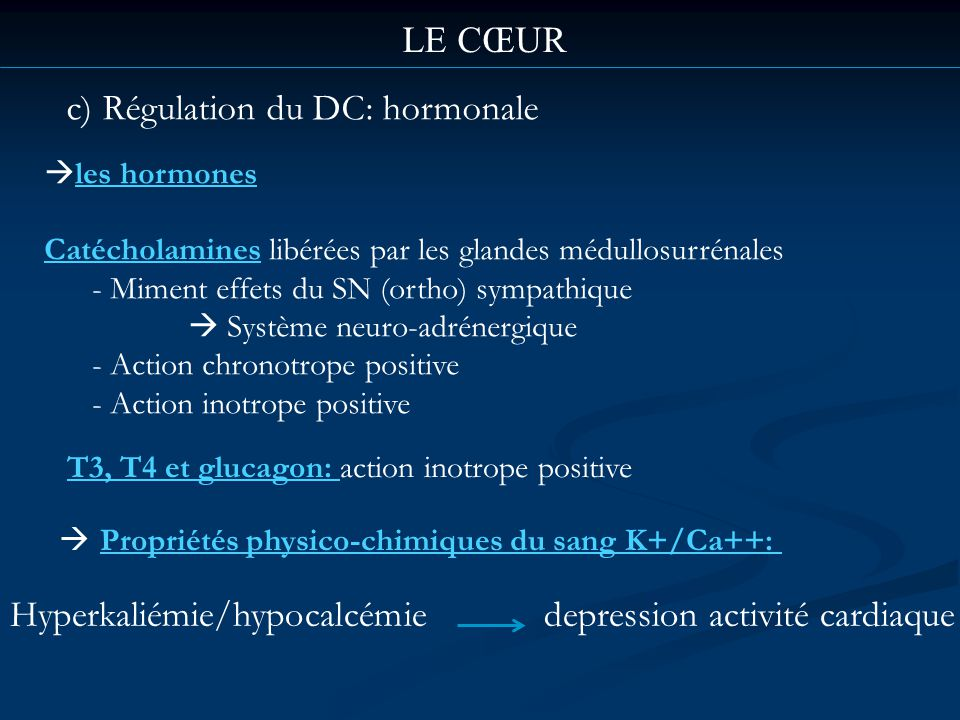 c) Régulation du DC: hormonale