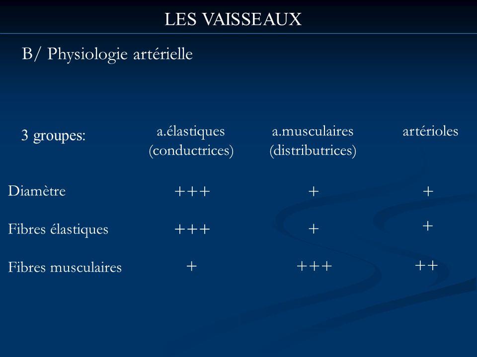 B/ Physiologie artérielle