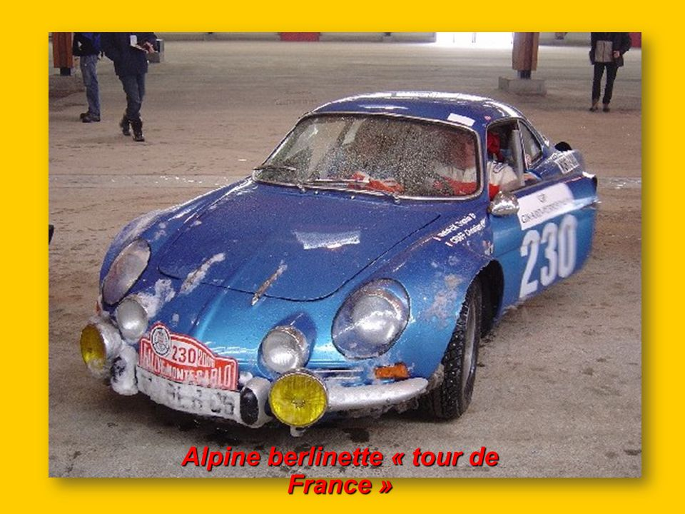 Alpine berlinette « tour de France »