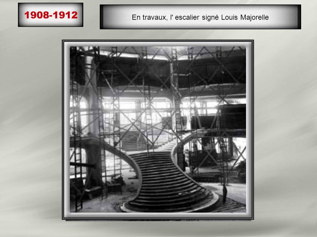 En travaux, l escalier signé Louis Majorelle