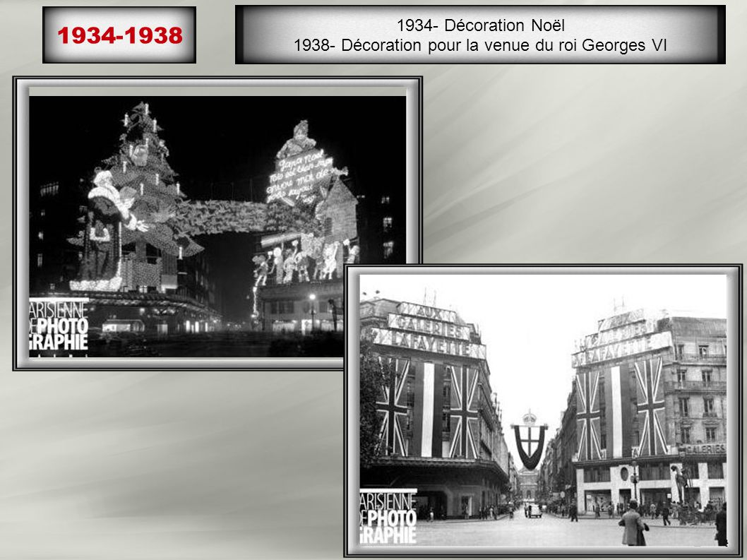 1938- Décoration pour la venue du roi Georges VI