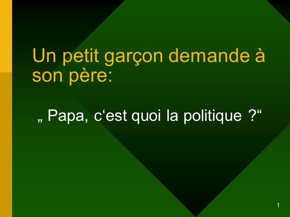 Un petit garçon demande à son père: