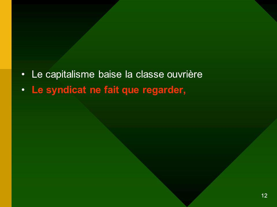 Le capitalisme baise la classe ouvrière