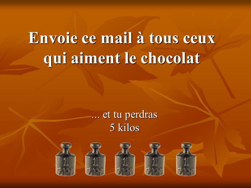 Envoie ce mail à tous ceux qui aiment le chocolat