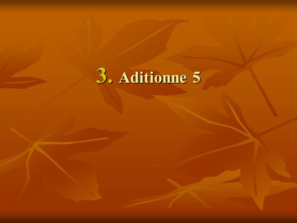 3. Aditionne 5