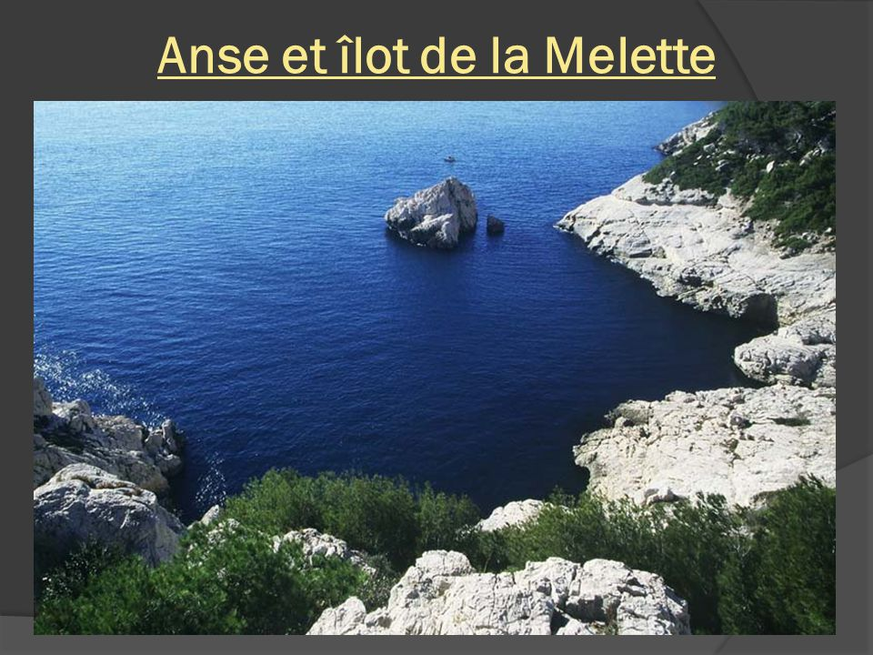 Anse et îlot de la Melette