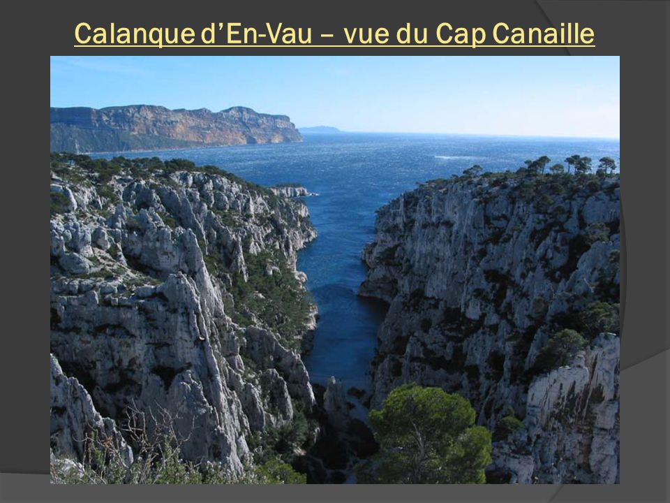 Calanque d'En-Vau – vue du Cap Canaille