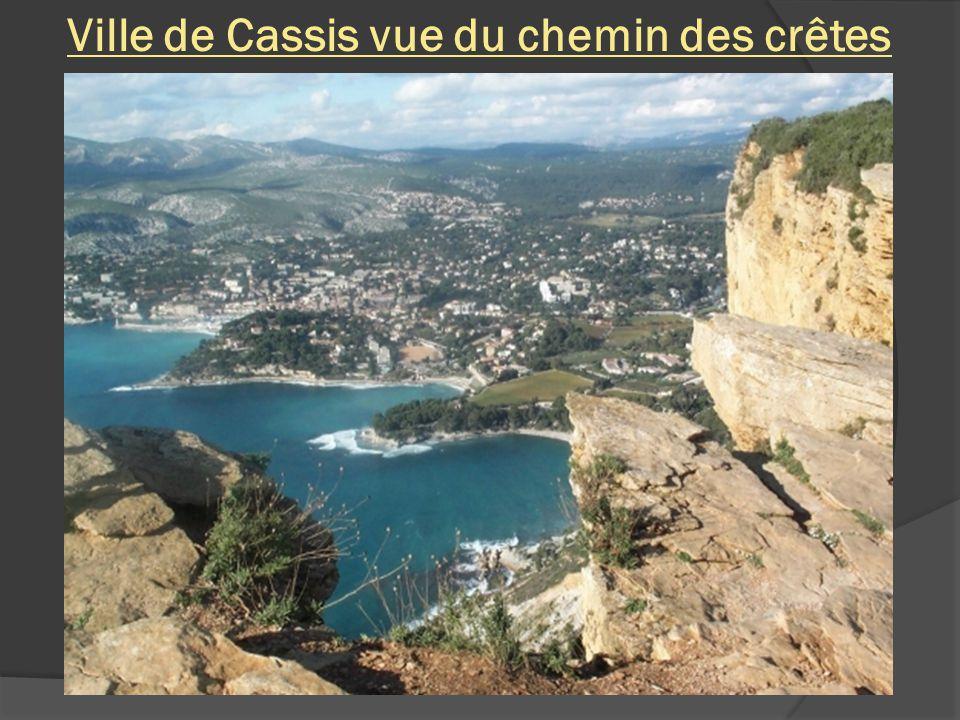 Ville de Cassis vue du chemin des crêtes