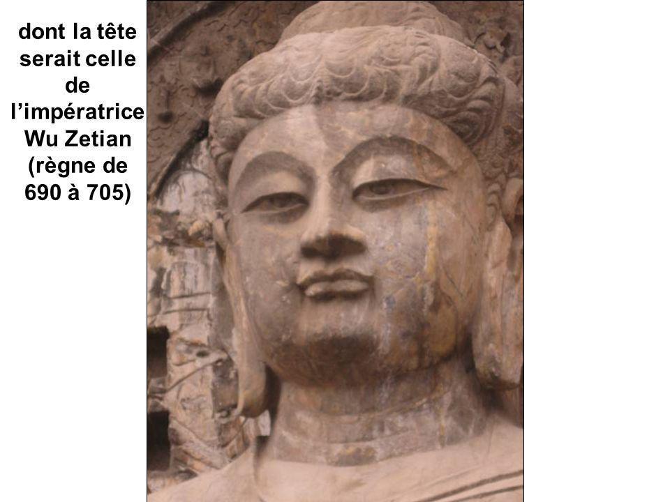 dont la tête serait celle de l'impératrice Wu Zetian (règne de 690 à 705)