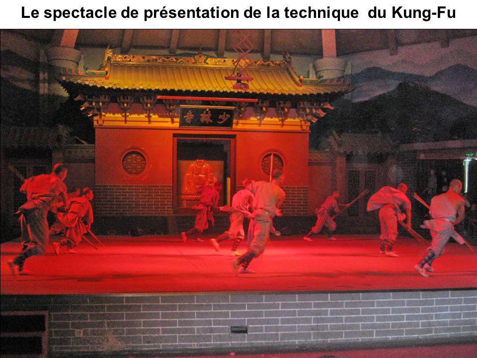 Le spectacle de présentation de la technique du Kung-Fu