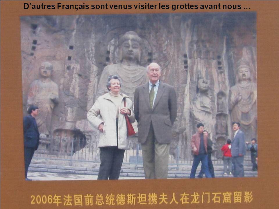 D'autres Français sont venus visiter les grottes avant nous …