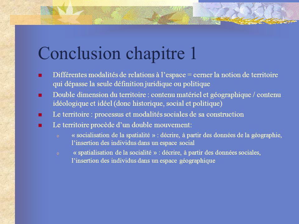Conclusion chapitre 1