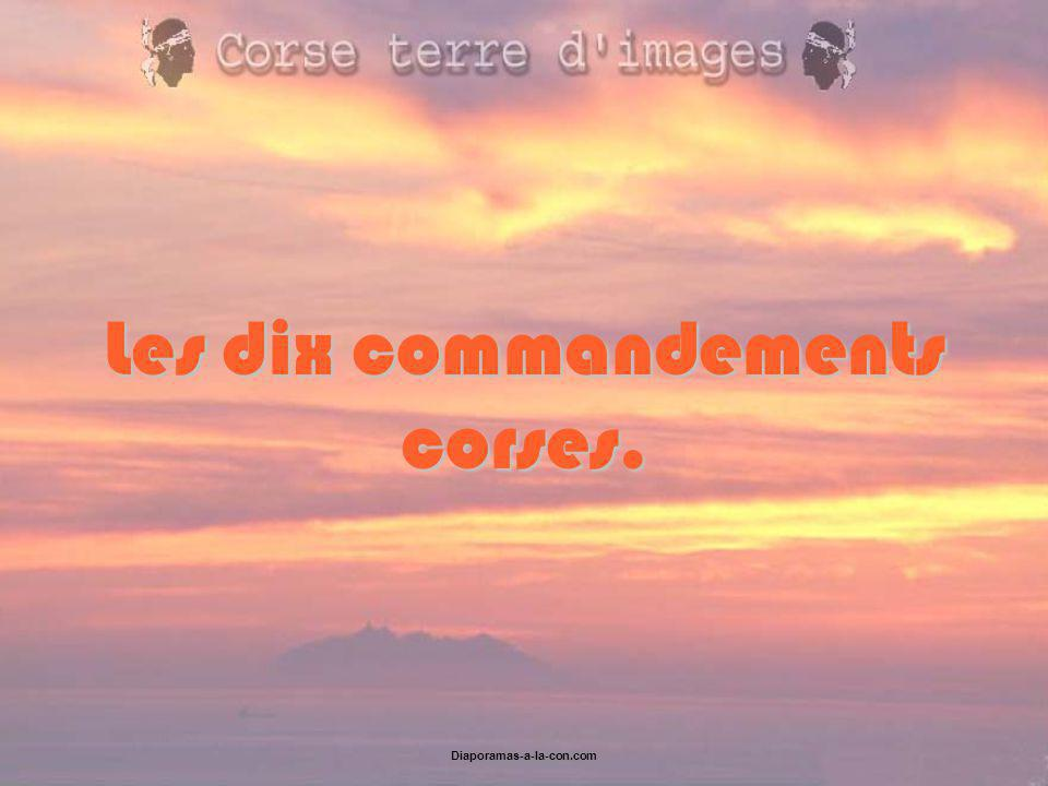 Les dix commandements corses.