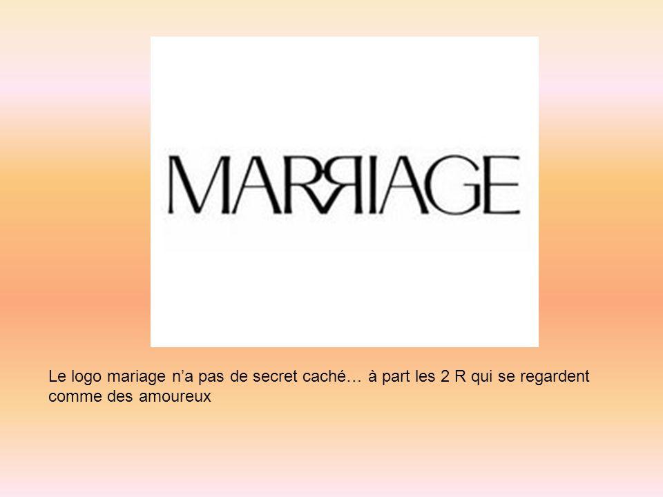 Le logo mariage n'a pas de secret caché… à part les 2 R qui se regardent comme des amoureux