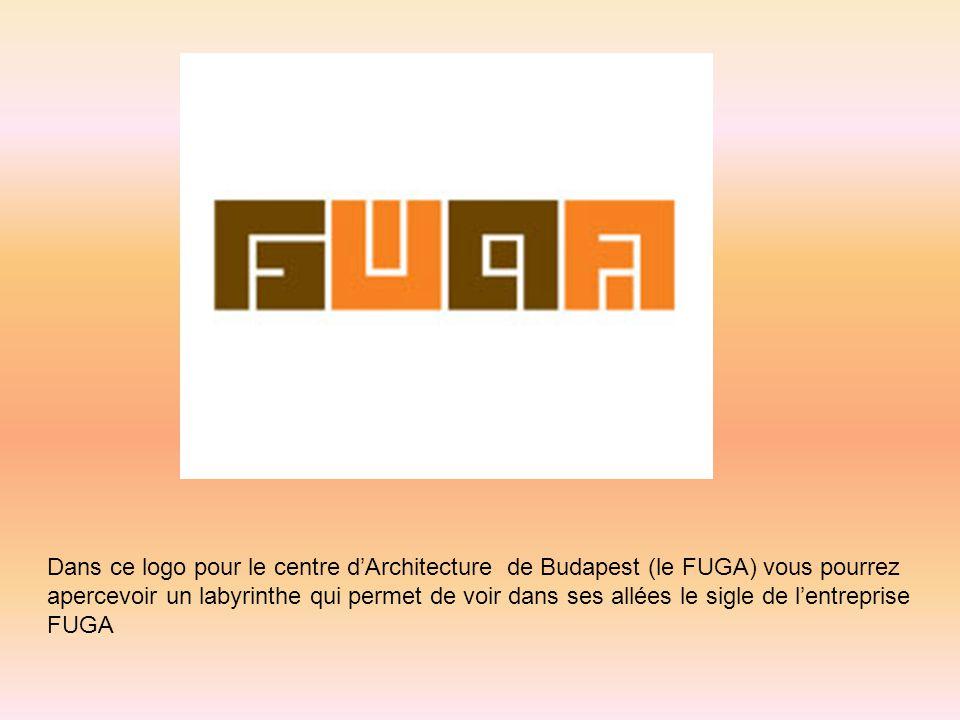 Dans ce logo pour le centre d'Architecture de Budapest (le FUGA) vous pourrez