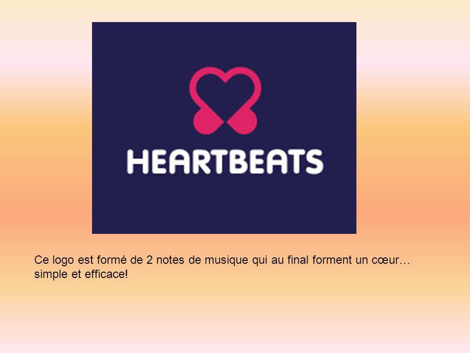 Ce logo est formé de 2 notes de musique qui au final forment un cœur… simple et efficace!