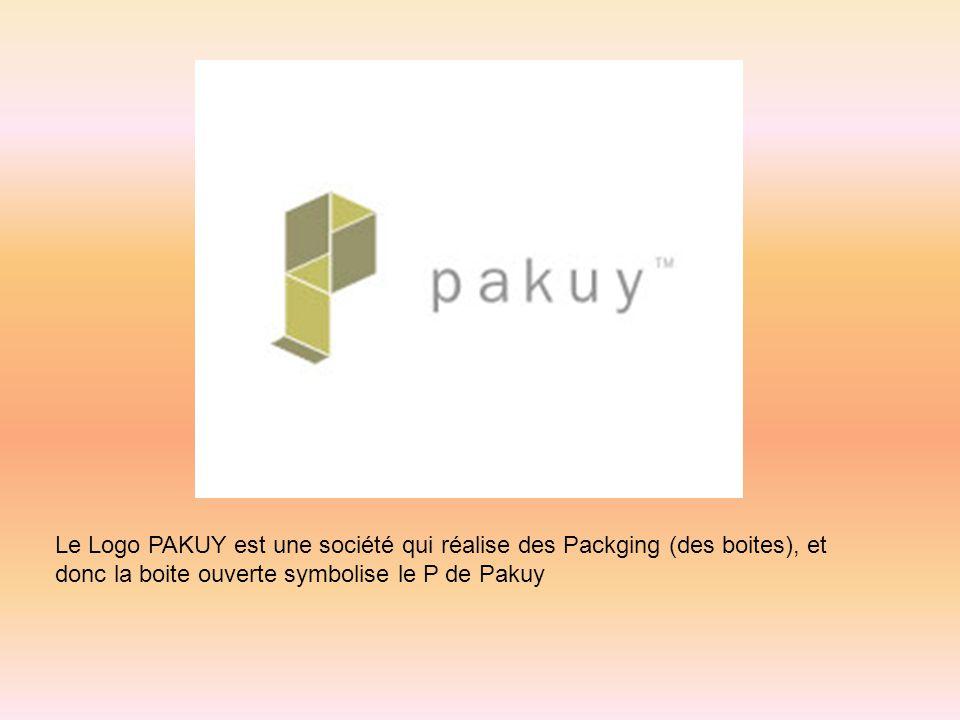 Le Logo PAKUY est une société qui réalise des Packging (des boites), et donc la boite ouverte symbolise le P de Pakuy