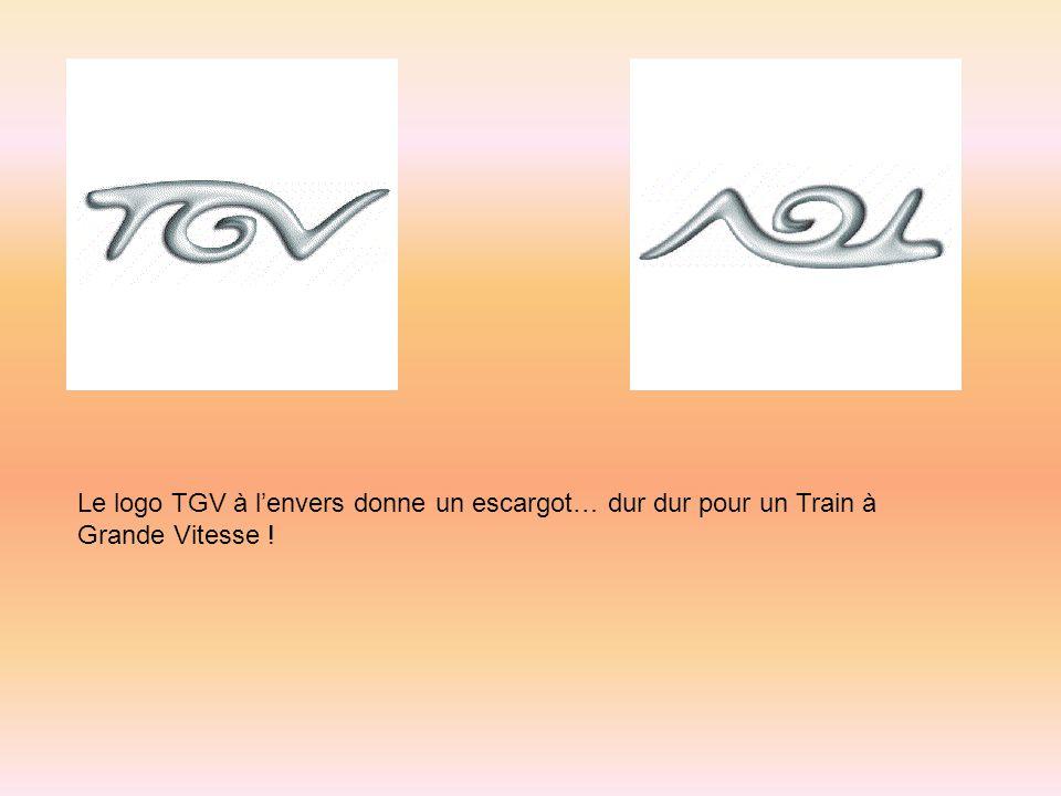 Le logo TGV à l'envers donne un escargot… dur dur pour un Train à Grande Vitesse !