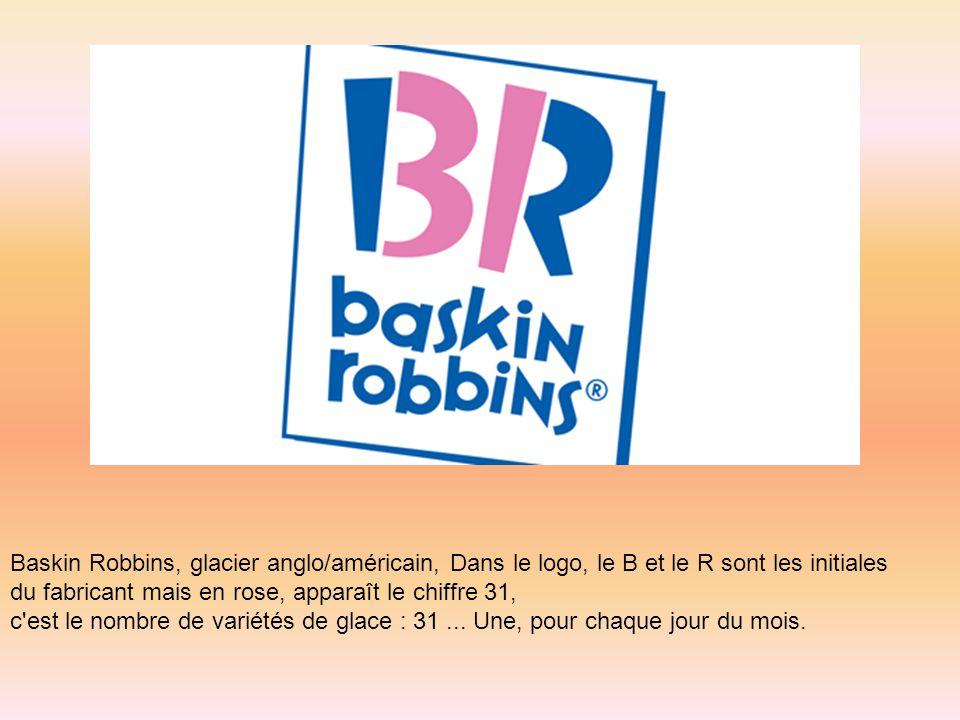 Baskin Robbins, glacier anglo/américain, Dans le logo, le B et le R sont les initiales
