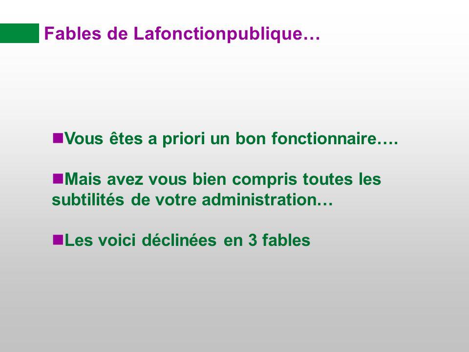 Fables de Lafonctionpublique…