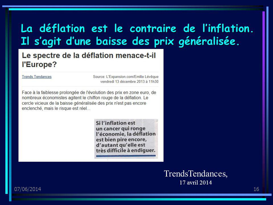 TrendsTendances, 17 avril 2014