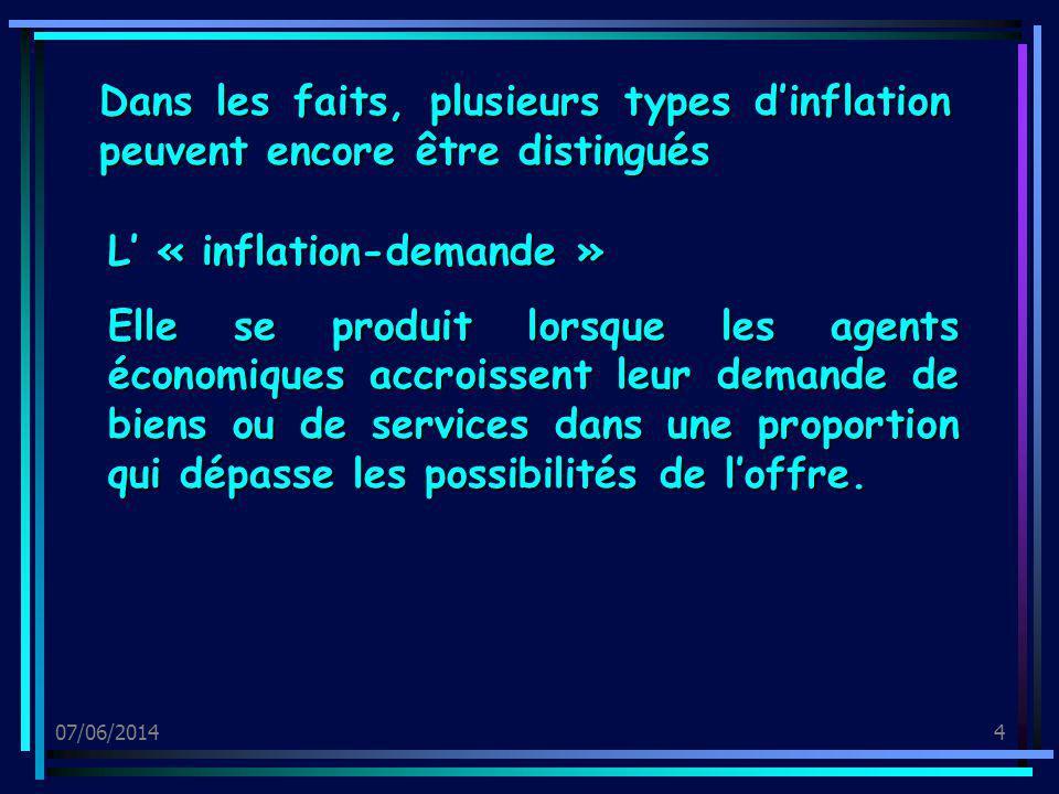 L' « inflation-demande »