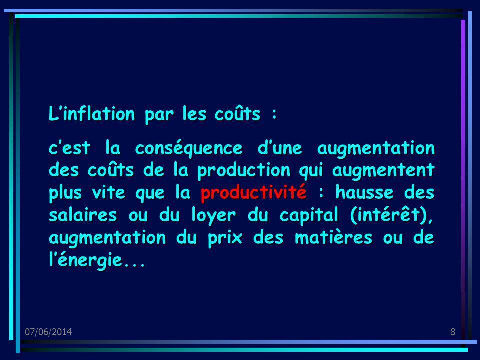 L'inflation par les coûts :